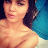 Another day, another sexy selfie after one of Chrissy's shoots.