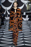 DVF proved orange and black isn't just for Halloween with this excellent ensemble that looked like animal print.