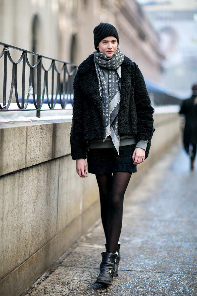 The downtown girl's lesson in layering.