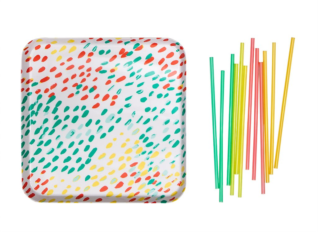 Melamine Tray ($15) and Straws ($3 for 12)