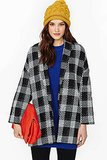 Nasty Gal Plaid Coat