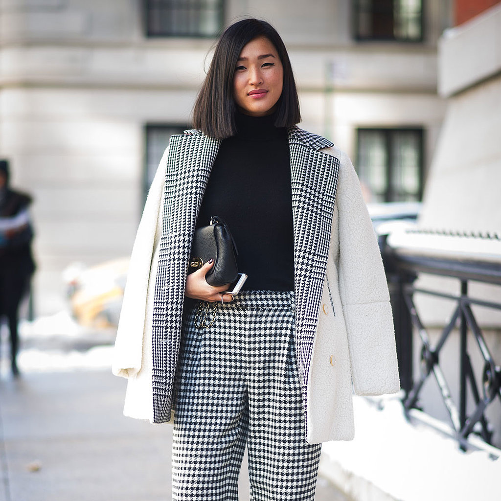 Plaid Street Style Trend at Fashion Week Fall 2014