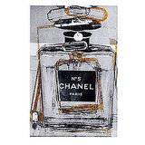 How perfect is this Infinite Glam art ($300) for some closet decor? The piece puts a modern spin on the classic image of a Chanel perfume bottle.