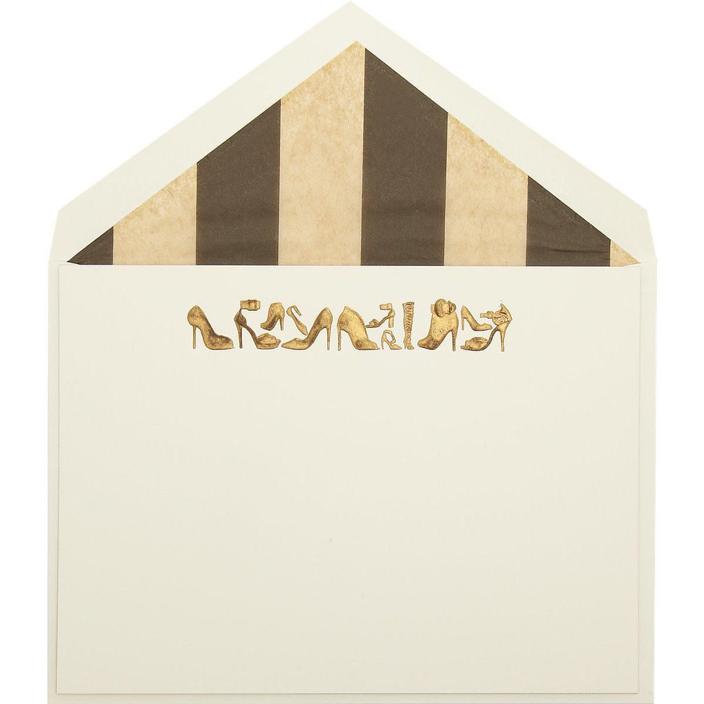 Only a true fashion-lover will appreciate the design of this set of shoe cards ($95).