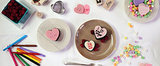 "Say ""I Love You"" With Conversation Heart Cakes"