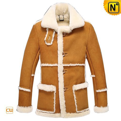 Vintage Sheepskin Ranch Coat for Men CW878258