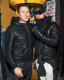 Scott Campbell and Justin Theroux posed for photos.