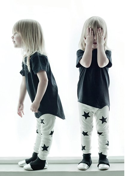 Black Tunic and Star Print Leggings