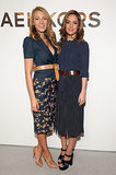 Blake Lively and Rose Byrne attended Michael Kors's fashion show during New York Fashion Week on Wednesday.