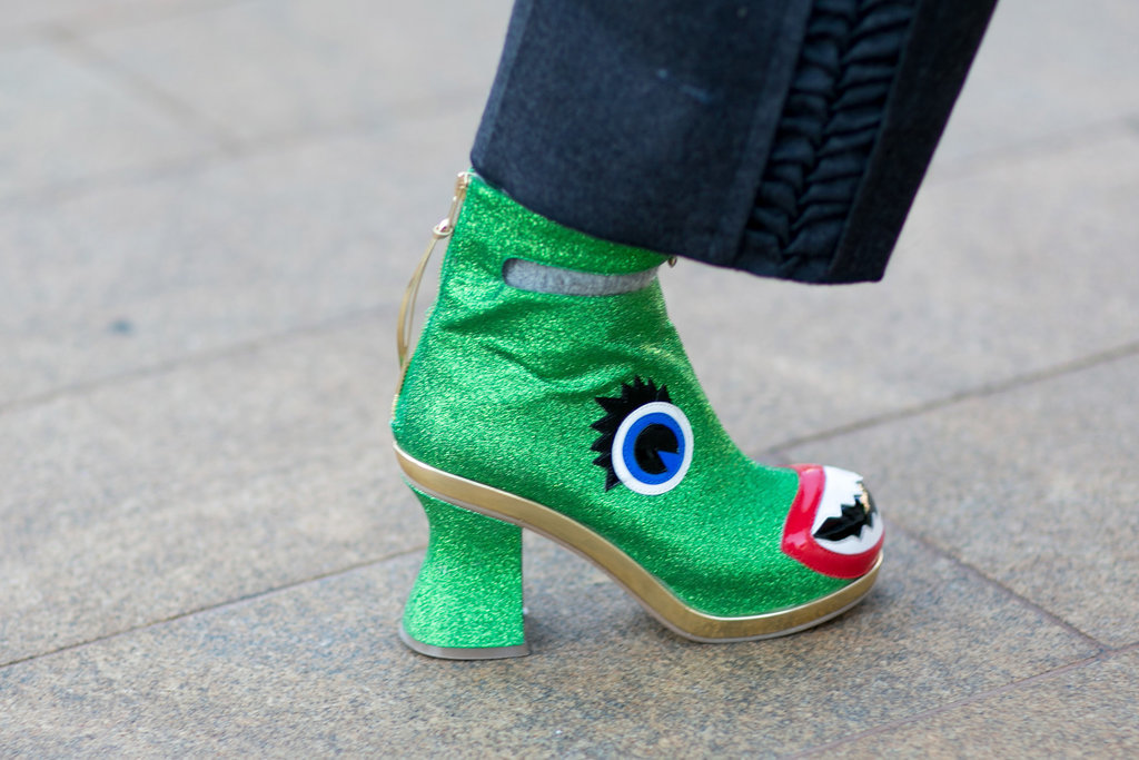 Preetma Singh's kooky boots take the prize for most original footwear.