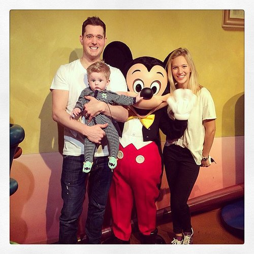 Michael Bublé took baby Noah to Disneyland for the first time. Source: Instagram user michaelbuble