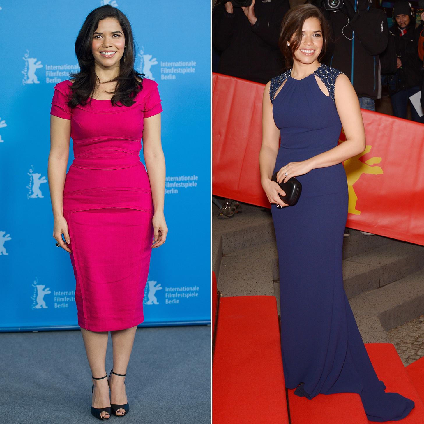 America Ferrera in Purple Dress at Cesar Chavez Premiere ...