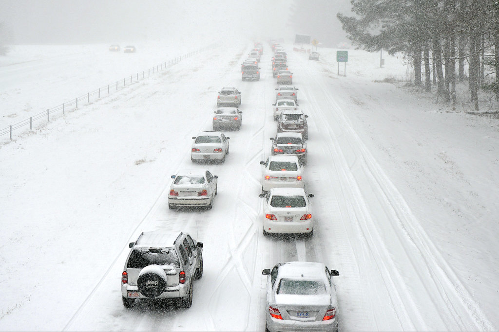 People were encouraged to stay off the roads in Raleigh, NC, where a state of emergency was declared.
