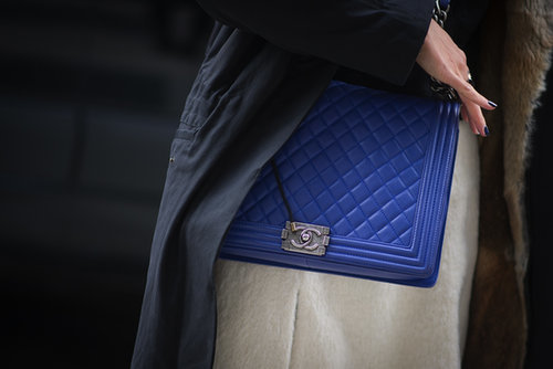 This Chanel was finished in a swoon-worthy blue hue.