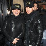 Orlando Bloom and Justin Theroux met up for a Deth Killers Fashion Week party.