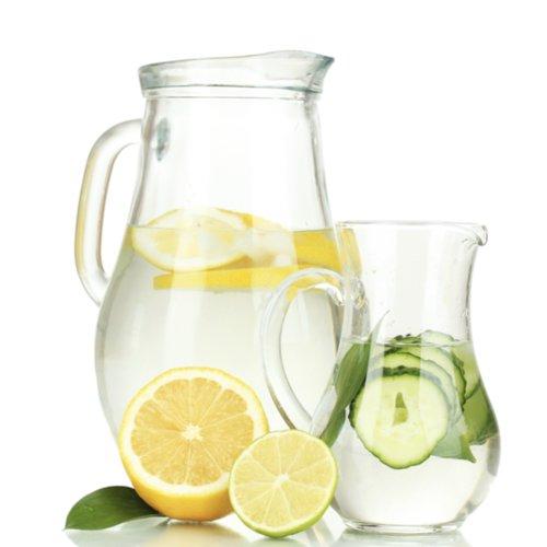 Detox With Lemon Cucumber Ginger Mint Water
