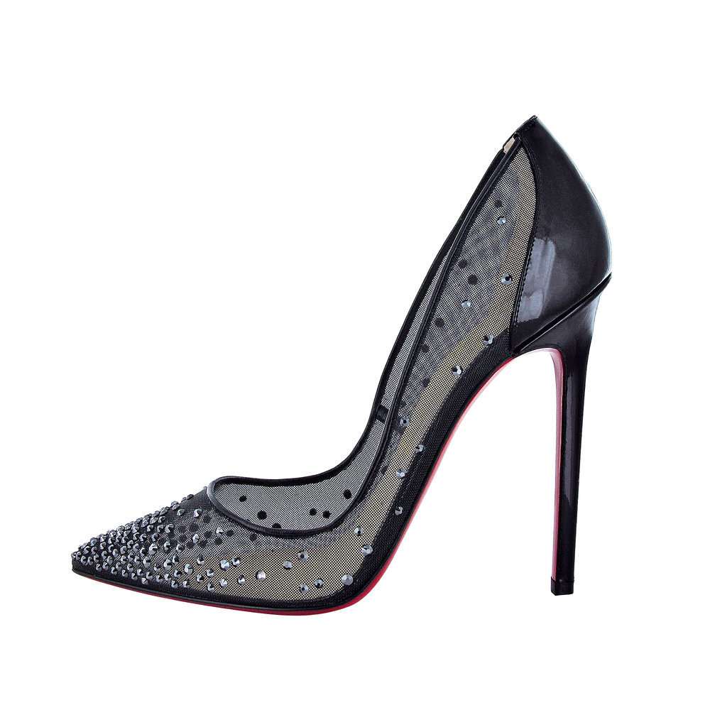Christian Louboutin Body Strass 120 Patent Heel Black