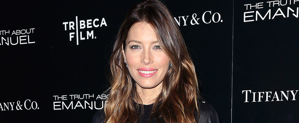Here's Jessica Biel in Platform Flip-Flops and Bell-Bottom Jeans