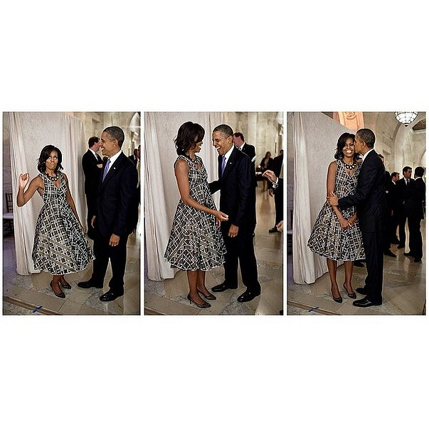 Michelle Obama told President Obama in a flashback photo that she would always be his valentine. Source: Instagram user michelleobama