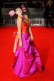 Lily Allen on the 2014 BAFTA Red Carpet