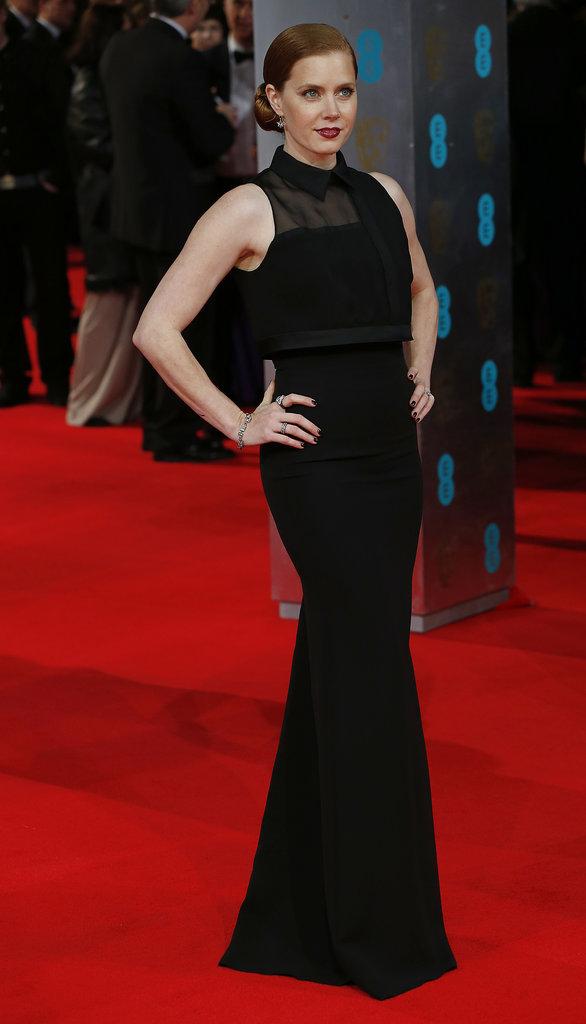 Amy Adams on the 2014 BAFTA Red Carpet