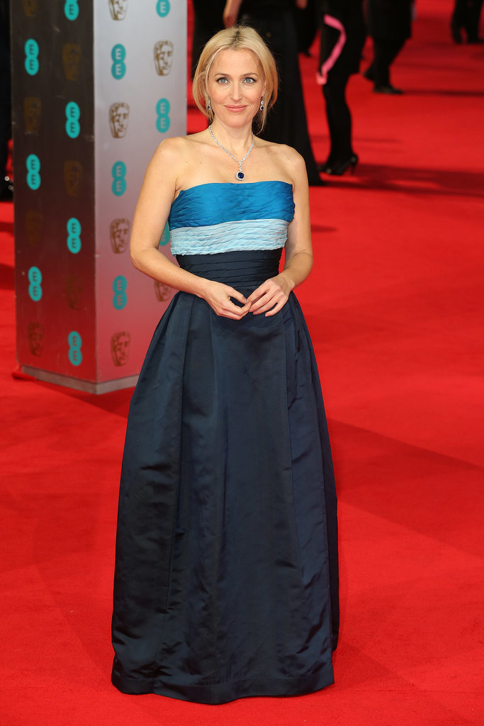 Gillian Anderson at the 2014 BAFTA Awards.