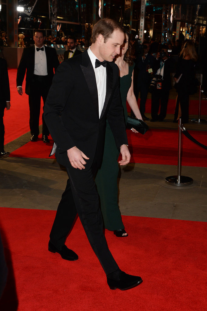 Prince William at the 2014 BAFTA Awards.
