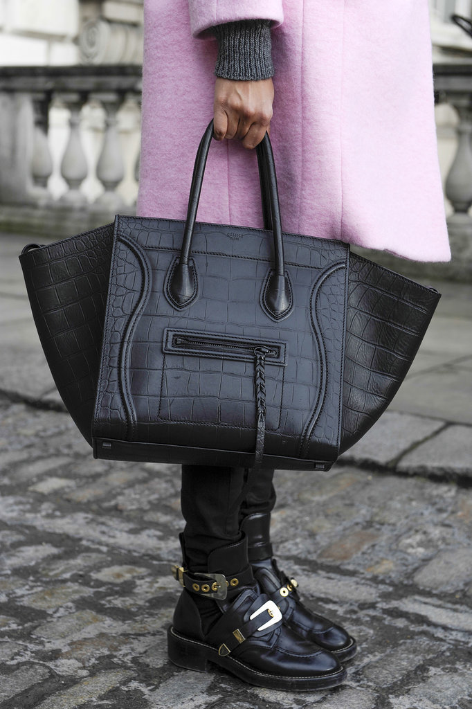 Is there a better Fashion Week companion than a Céline tote?
