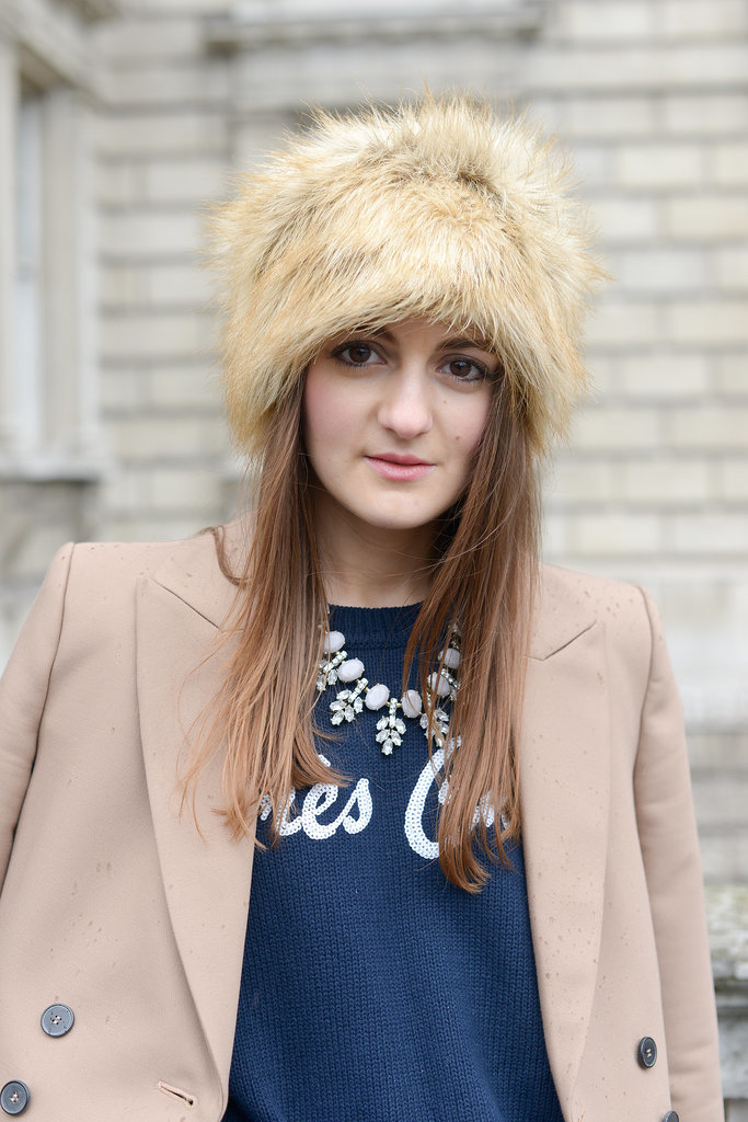 "This hat screams ""Winter luxe."""