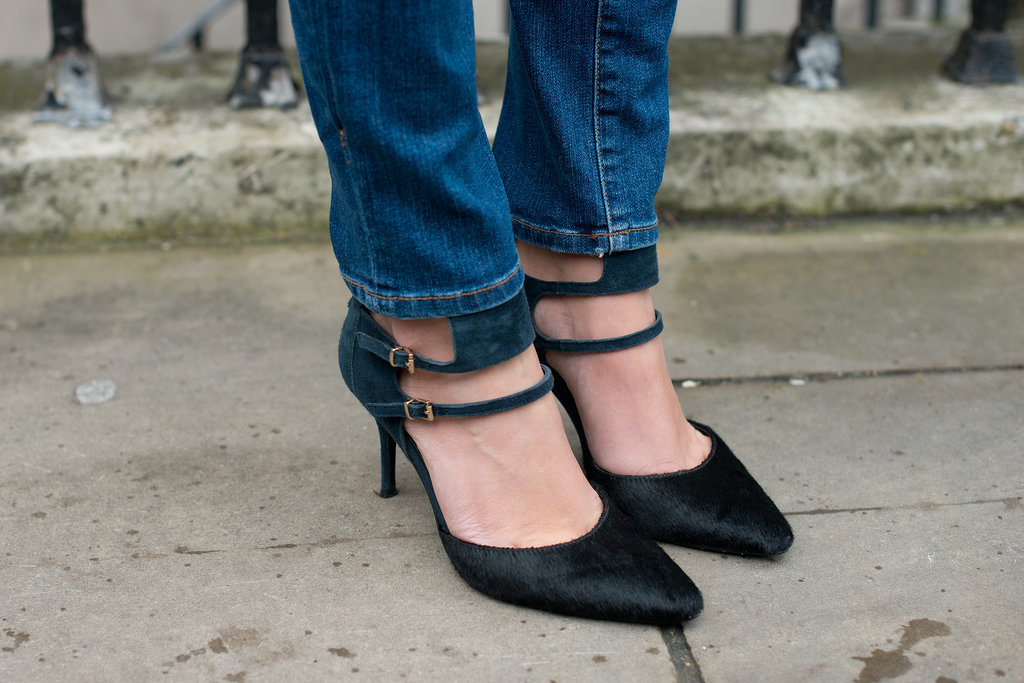 If you don't look closely, you'll miss the luxe texture on these pumps.