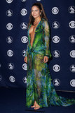 Jennifer Lopez in Versace at the Grammy Awards
