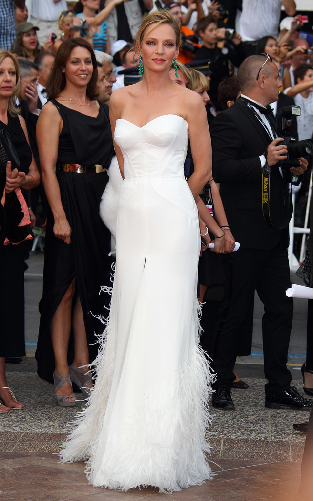 Uma Thurman in Versace at the Cannes International Film Festival