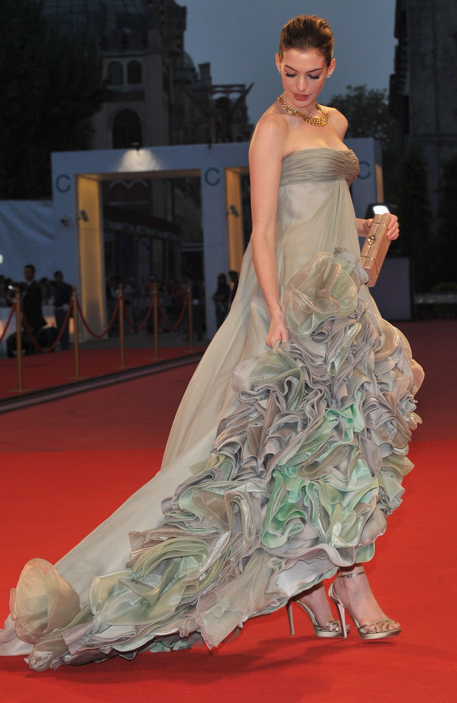 Anne Hathaway in Versace at the Venice Film Festival
