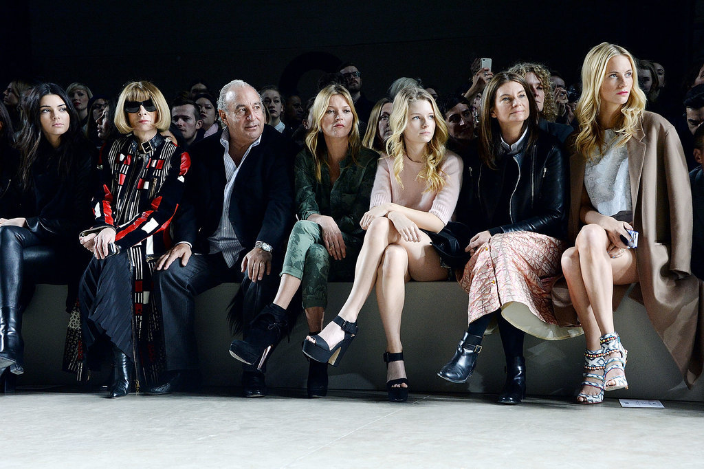 Kendall Jenner, Anna Wintour, and Kate Moss