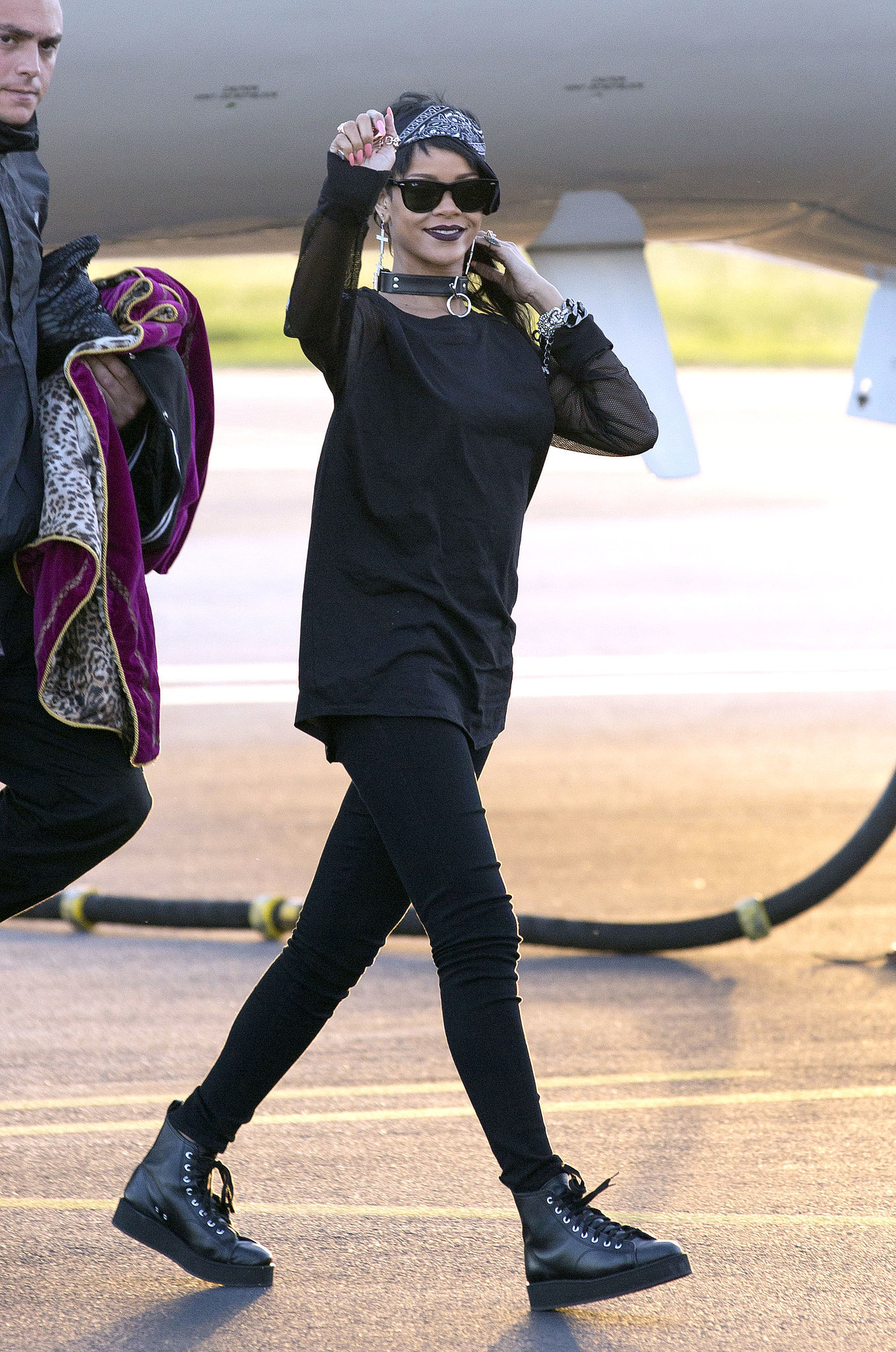 Rihanna Was The Definition Of Goth Glamour While Touching Down In Rihanna 39 S Style Is Now