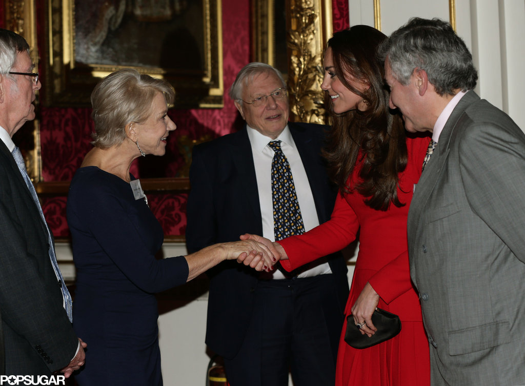 Kate Middleton met with Helen Mirren.
