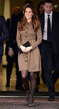 Kate Middleton in Brown Orla Kiely Dress