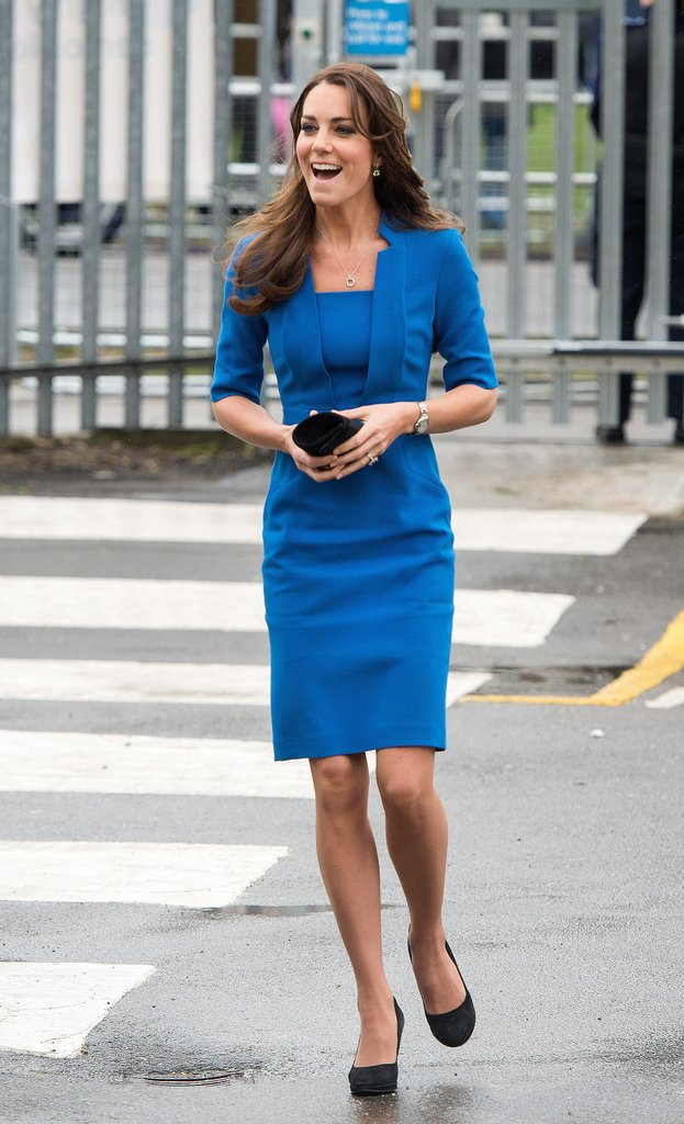 Kate Middleton in Blue Dress
