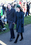 Kate Middleton in Plaid Alexander McQueen Coat Dress
