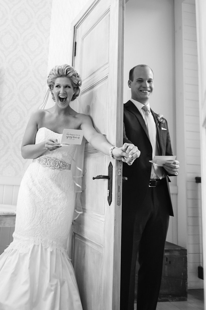 She's just so excited! Photo by Jen Fariello Photography via Style Me Pretty