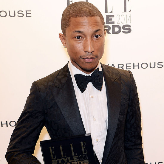 Pharrell Williams at the Elle Style Awards in London 2014
