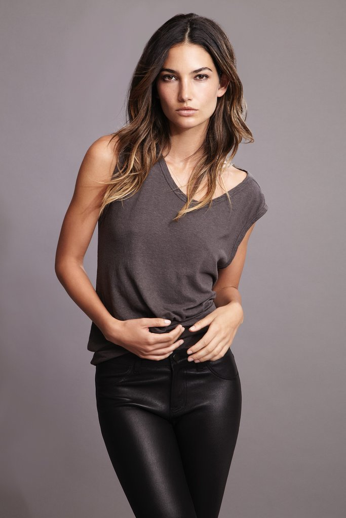 Lily Aldridge For Velvet Rose Cotton Hemp Cap-Sleeve Tee ($68) Source: Courtesy of Velvet