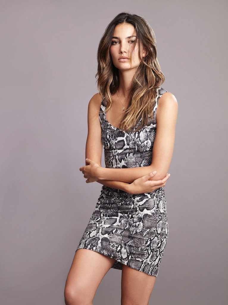 Lily Aldridge For Velvet Bubs Snake Print Tank Dress ($158) Source: Courtesy of Velvet