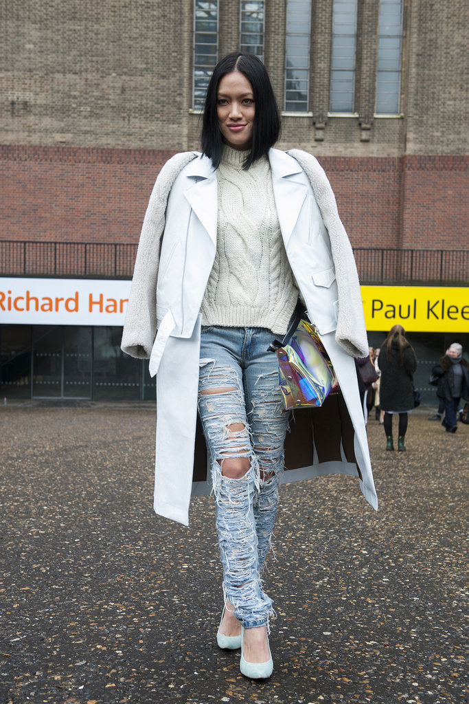 Is slashed pale denim making a comeback?