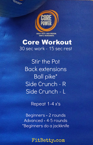 Core Power Stablity Ball Core workout - FitBetty.com
