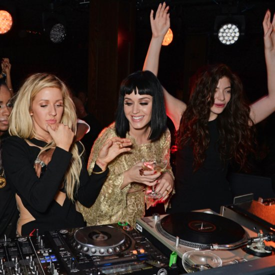 Katy Perry and Lorde DJing Brit Awards 2014 After Party