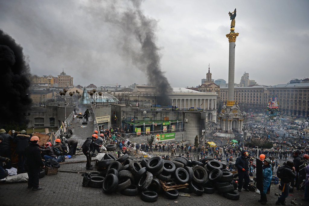 Kiev Is Unrecognizable in These Jarring Protest Pictures