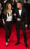 Angelina Jolie and Brad Pitt wore matching tuxedos when they attended the BAFTA Awards in London.