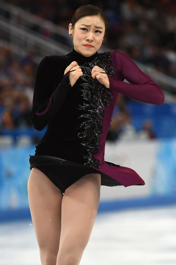 South Korean figure skating queen Yuna Kim skated last.