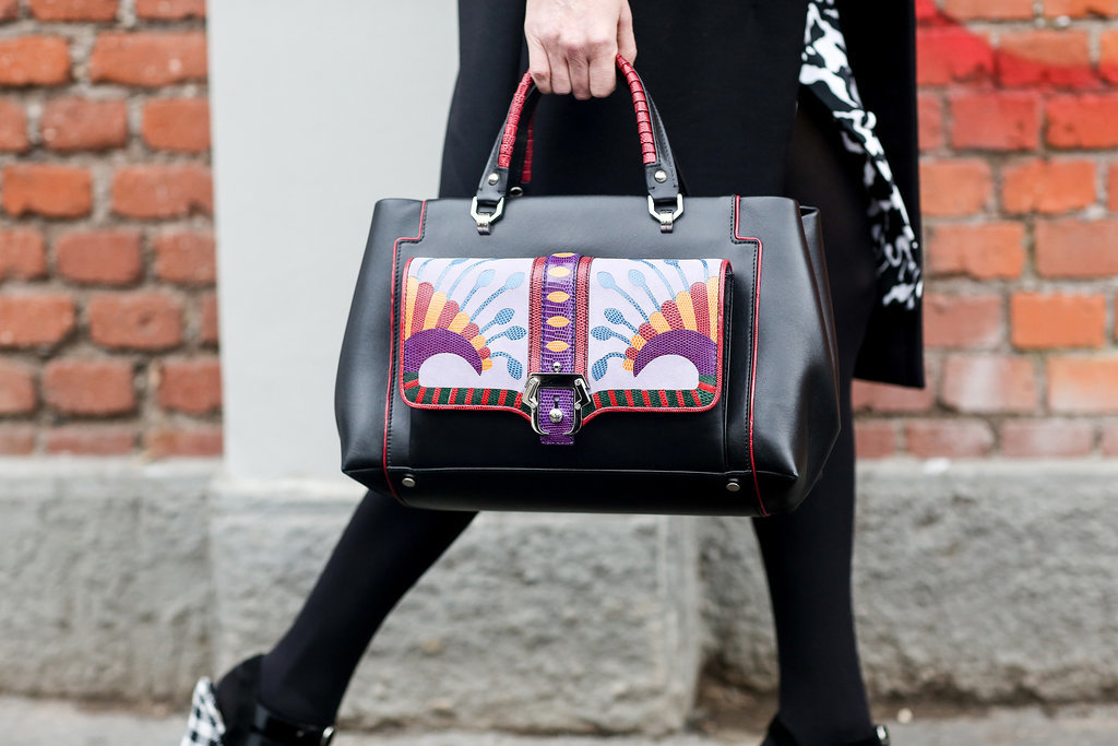 This bag looks almost hand-painted.